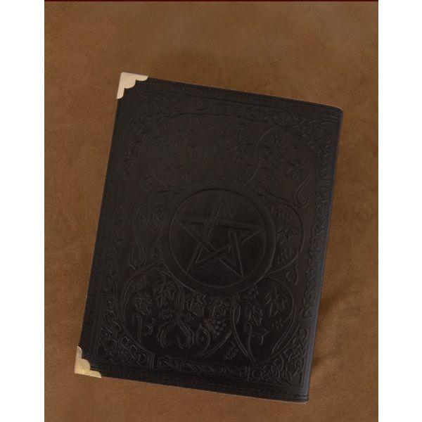 Sort læder bog med Pentagram