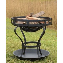 Deepeeka Fire pit with ground plate, approx. 41 cm