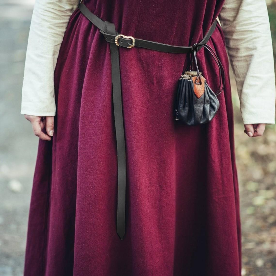 Leonardo Carbone Cinturón de cuero negro 2 cm