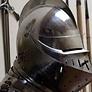 middelalder hjelm