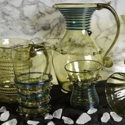 Glas kopper & kander