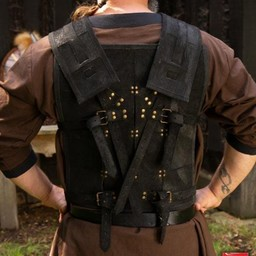RFB Fighter leather armour, black