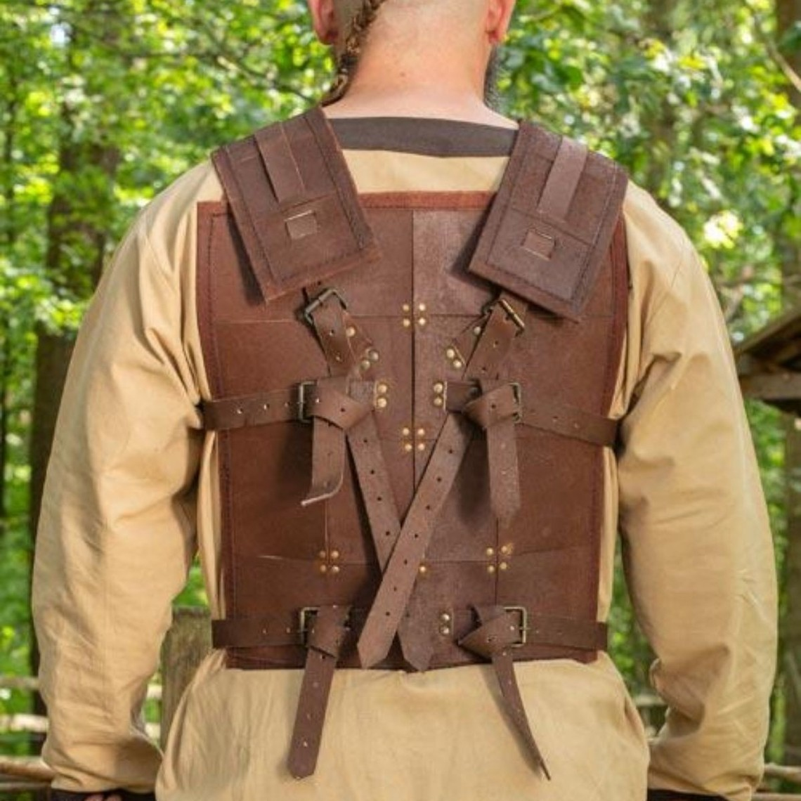 Epic Armoury RFB Fighter Leather Armor, brązowy