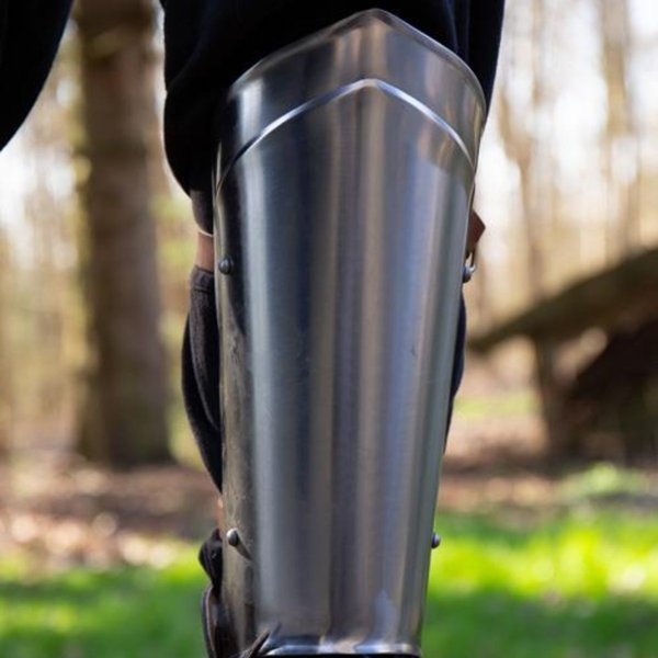 Epic Armoury Scout medieval greaves polished