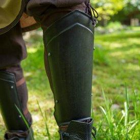 Epic Armoury Mittelalter Beinschienen Scout schwarz