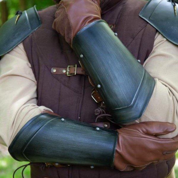 Epic Armoury Armschienen mittelalter Scout schwarz