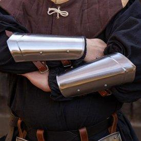 Epic Armoury Scout średniowieczne vambraces polerowane
