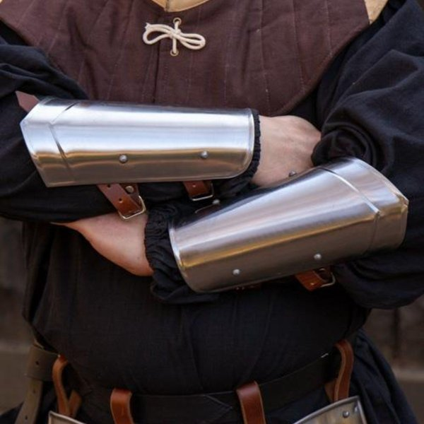 Epic Armoury Scout medieval vambraces polished