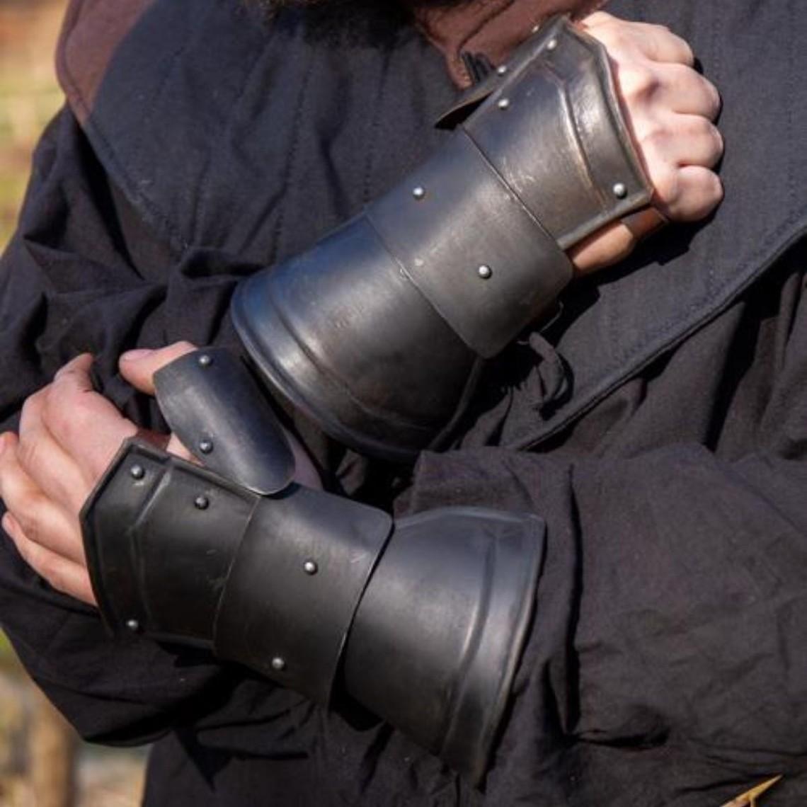 Epic Armoury Demi-guanteletes negro scout