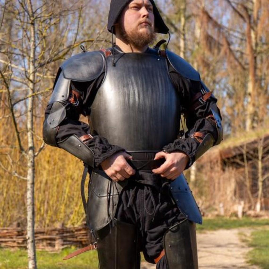 Epic Armoury Medieval Italian cuirass & backplate, blackened