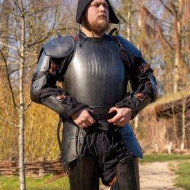 Epic Armoury Średniowieczny włoski pancerz i tylnej płyty, sczerniałe