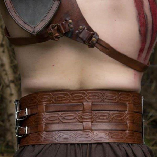 Epic Armoury LARP barbar bröstplåt, svart