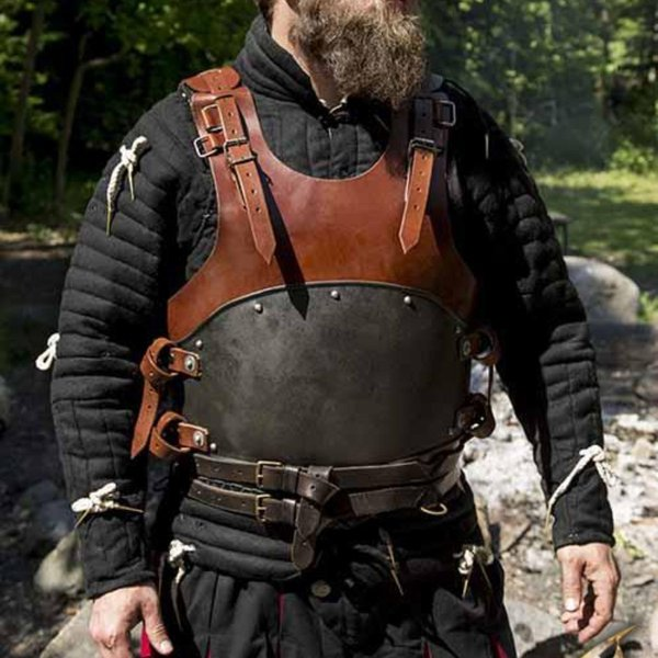 Epic Armoury LARP cuirass Rogue, black-brown