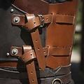 Epic Armoury LARP kuras Rogue, zwart-bruin