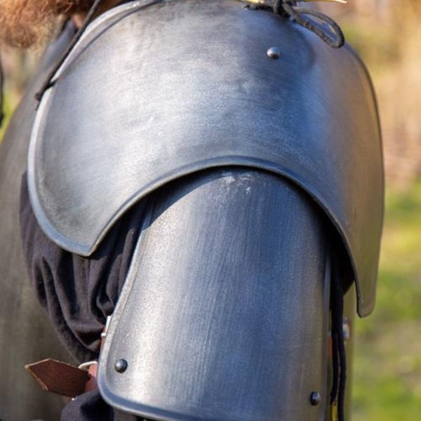 Epic Armoury Middeleeuwse pauldrons Richard, gebronsd