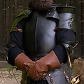 Epic Armoury Middeleeuwse pauldrons Milanees, gebronsd