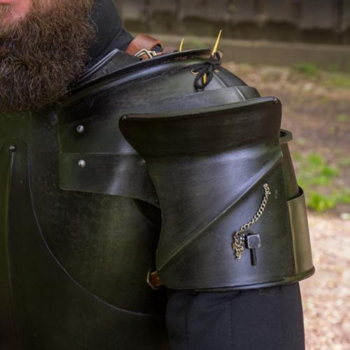 Epic Armoury Średniowieczne naramienniki Milanese, opalony