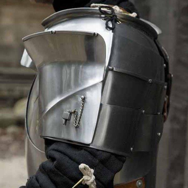Epic Armoury Mittelalter Schulterplatten Milanese, poliert