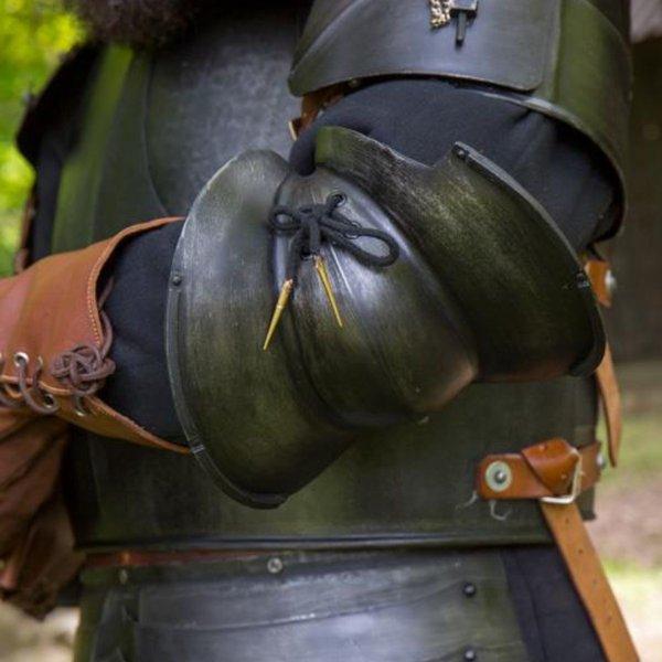 Epic Armoury Italiaanse Milanese elleboogbeschermers, gebronsd