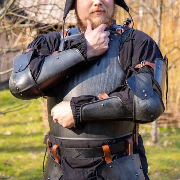 Epic Armoury 15. århundrede fuld arm beskyttelse, bruneret