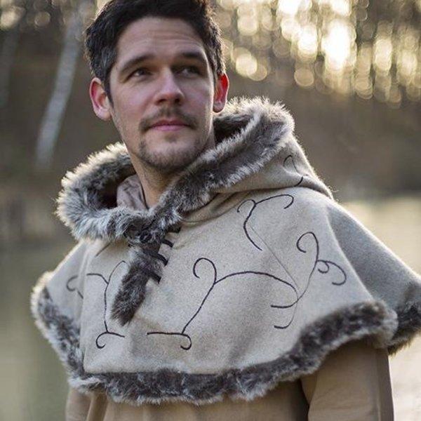 Epic Armoury Fur hætte Gisla, grå