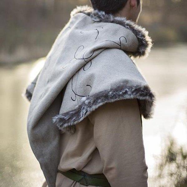 Epic Armoury Fur hood Gisla, grey