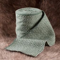 Diament skośnym tkaniny zielony, o szerokości 10 cm, na 7 licznika