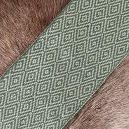 Diamond twill fabric green, 10 cm wide, per 7 metre