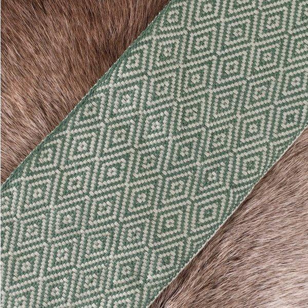 Diamante twill tessuto verde, largo 10 cm, a 7 metro