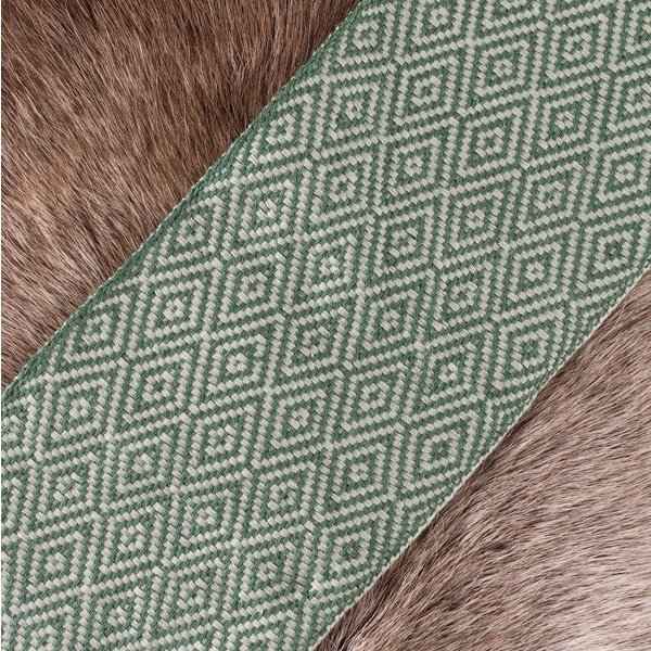 Diamond twill stof grøn, 10 cm bred, pr 7 meter