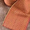 Herringbone Motiv Stoff gelb-rot, 10 cm breit, je 7 Meter