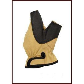 Højrehåndet bueskytte handske