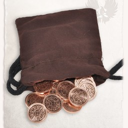50 LARP coins with money pouch