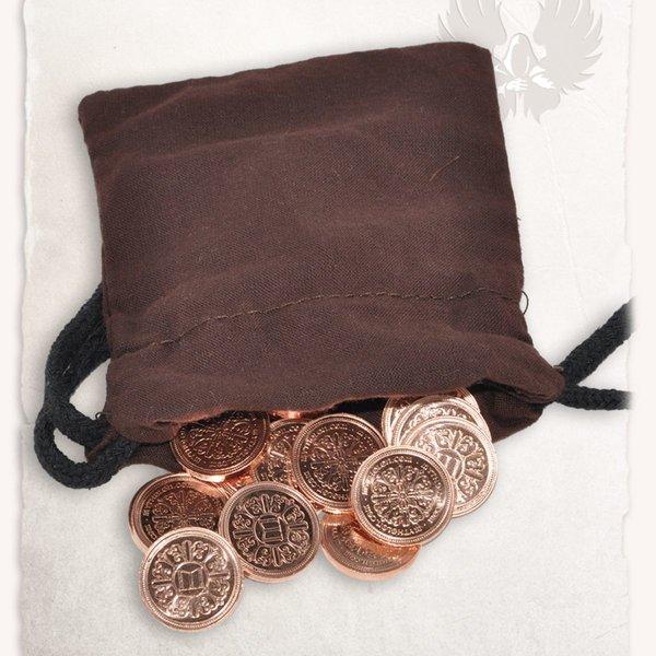 Mytholon 50 larp mønter med penge pose