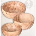 Mytholon Średniowieczne drewniane miski M