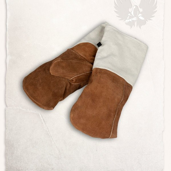 Mytholon Medeltida kök handskar brun