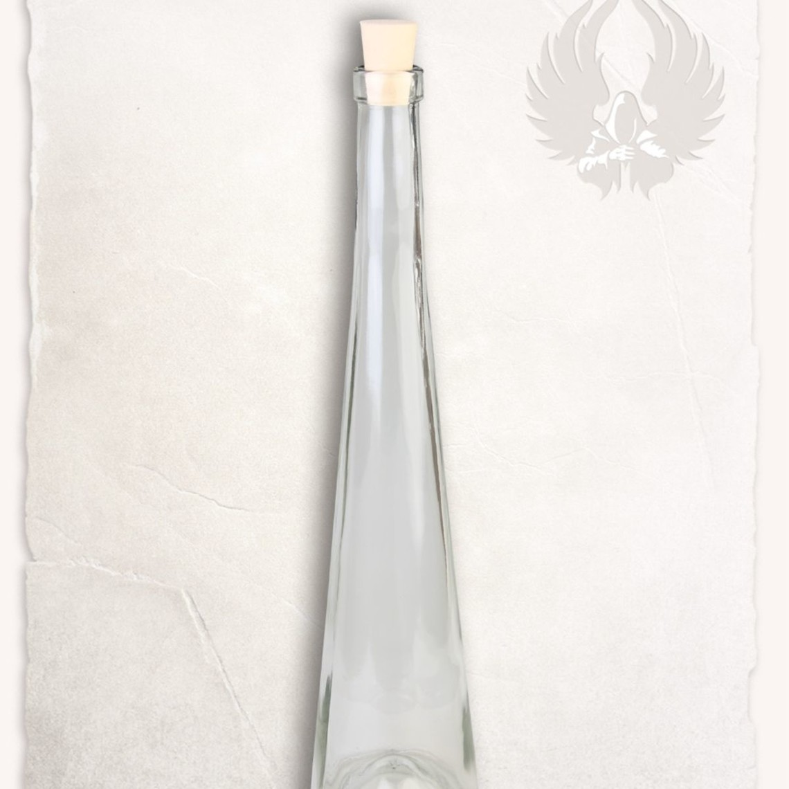 Mytholon Bottiglia di vetro 500 ml con tappo di sughero