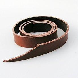 Leren riemband 30 mm / 130-140 cm bruin