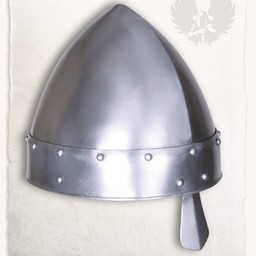 Norman nosowej kask Baldric polerowane