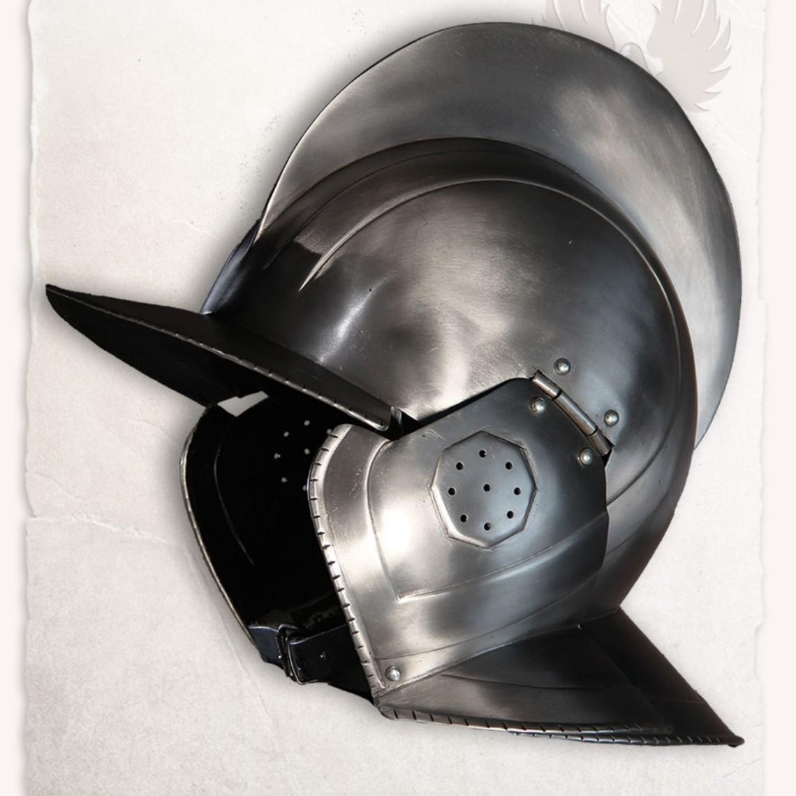 Mytholon 17th century burgonet Kaspar polished