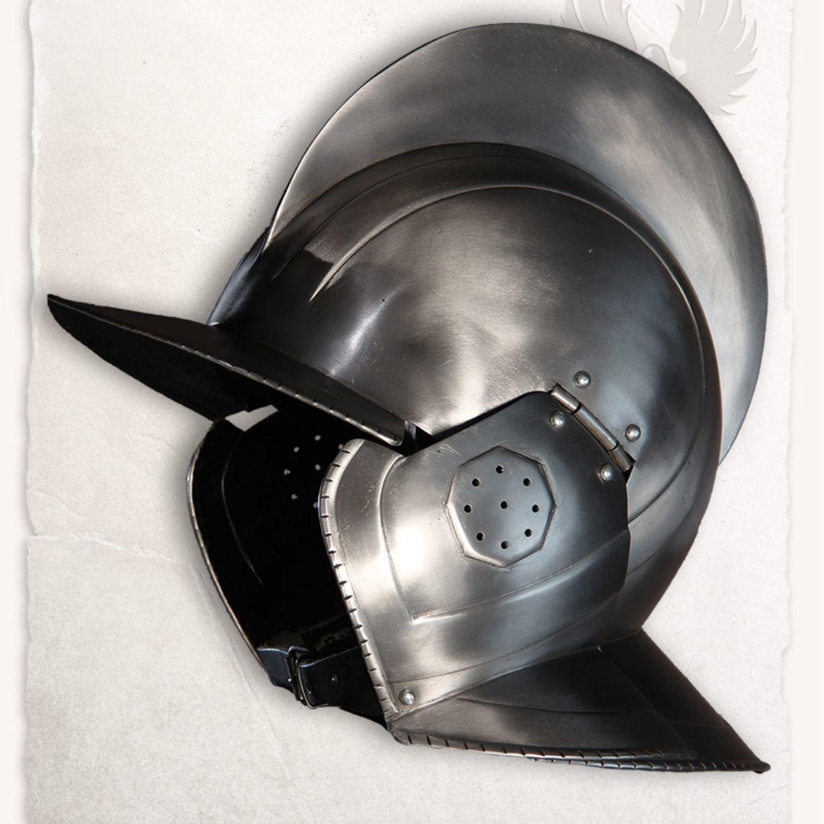 17de eeuwse Burgonet Kaspar gepolijst