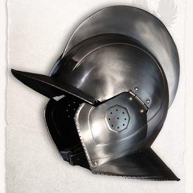 Mytholon 17. århundrede burgunderhjelm Kaspar poleret