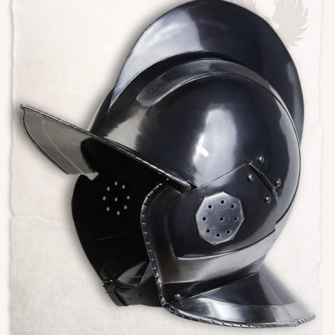 Mytholon 17. århundrede burgunderhjelm Kaspar bruneret
