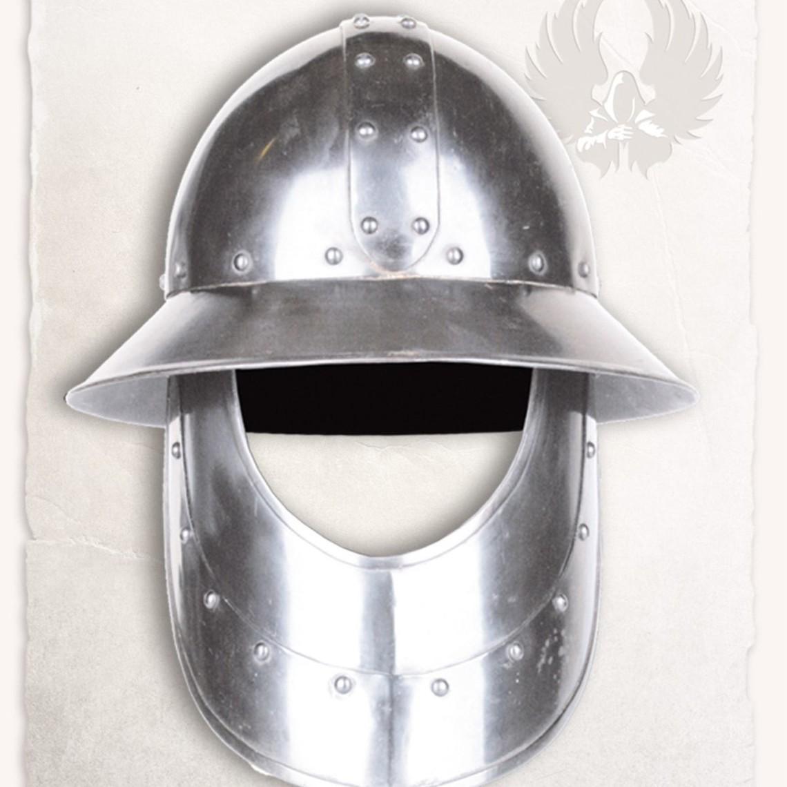 Mytholon Mittelalterliche Eisenhut mit Bart
