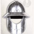Mytholon cappello di ferro medievale con la barba