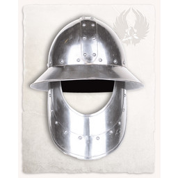 Medieval kettle hat with beard