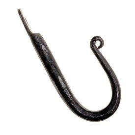 Hand-forged wall hook, L