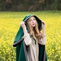 Leonardo Carbone Geborduurde mantel Lyra, groen