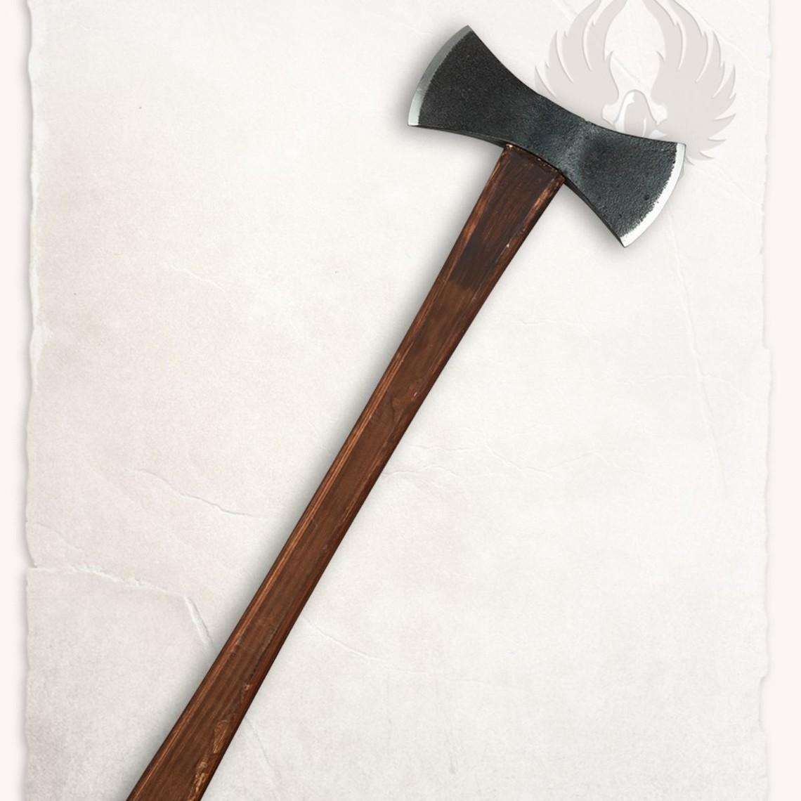 Mytholon Doppel Viking Axt, kampfbereit