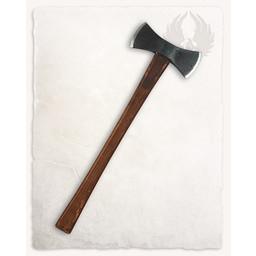 Double Viking axe, battle-ready (blunt)